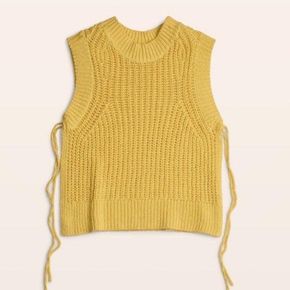 Aritzia Wilfred Belfort Side Tie Sweater Top